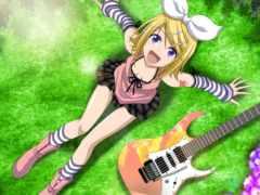 rin, kagamine, гитара
