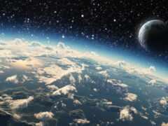 planet, космос, облако