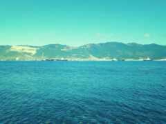 море, гора, water
