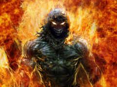 disturbed, indestructible, пламя