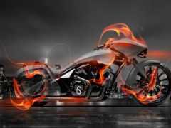 огонь, bike, город