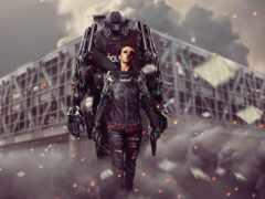 robot, cyborg, darkness