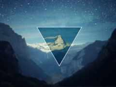 fondos, pantalla, треугольник