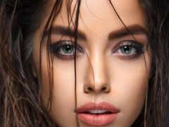 красивый, глаза, женский