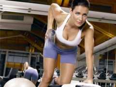 girls, гантелями, упражнения