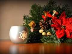 christmas, decoration, столик