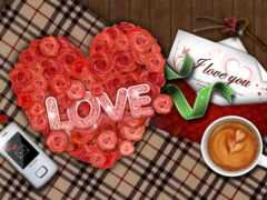 postcard, love, сердце