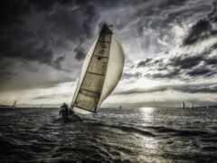 яхта, море, sail