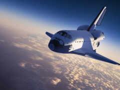 космос, shuttle, planet