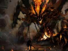 monster, демон, art