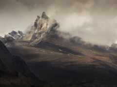 гора, rock, облако