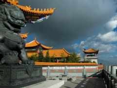 китаянка, храм, дракон