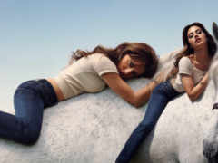 лошади, верхом, девушка