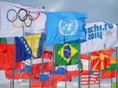 флаг, олимпийский, сочи
