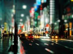 огни, дорога, улица