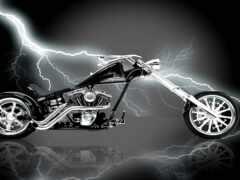 красивый, крутой, мотоцикл