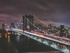 мост, manhattan, york