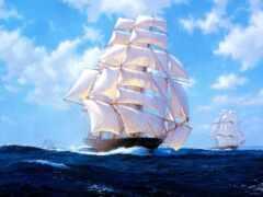 diamond, корабль, море
