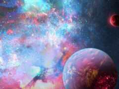 космос, star, planet