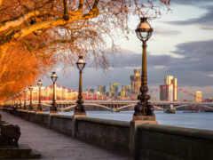 london, река, мост