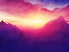 гора, pic, небо
