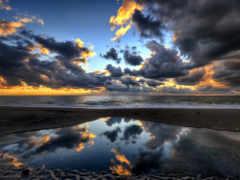 pantalla, cielo, fondo
