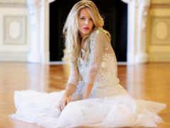 платье, blonde, белом