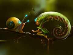 fantasy, snail, тварь