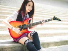 guitarist, гольфы, восток