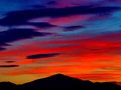 природа, закат, облако