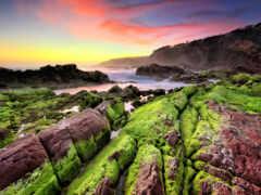 landscape, море, klippe