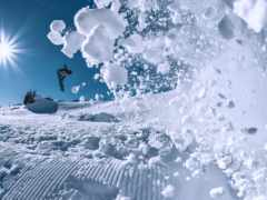winter, снег, snowboarding