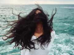 женщина, hairstyle, action