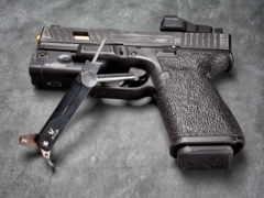 glock, фон, пистолет