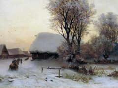 картинка, winter, вечер