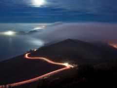 ночь, дорога, горы