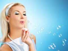 пузыри, мыльные, девушка