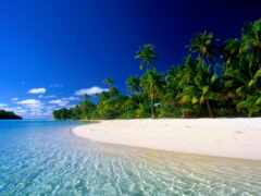 пляж, остров, природа