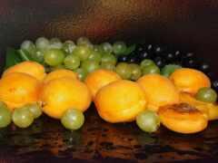 виноград, еда, абрикос