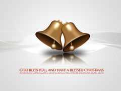 christmas, bells, открытки