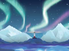 aurora, desktop, lighthouse