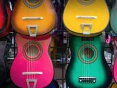мексиканский, гитара, colorful