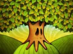 дерево, drawing, лист