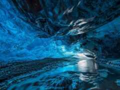пещера, лед, природа