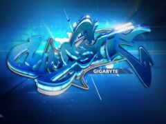 гигабайт синее граффити