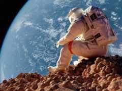 астронавт, луна, earth
