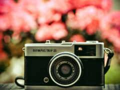 фотоаппарат, красивые, объектив