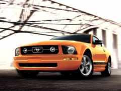 mustang, машины, оранжевого