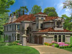 plan, house, italian