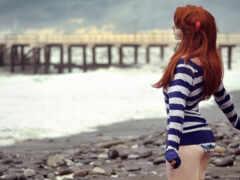 море, девушка, sveta